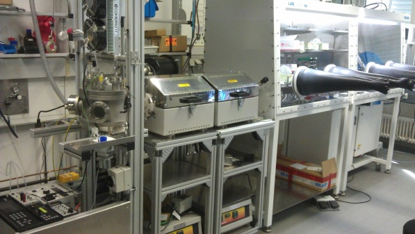 CVS facility with the possibility of capturing the as-synthesized particles under inert gas atmosphere in a glove box.