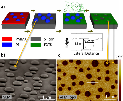 Polymer blend lithography: A versatile method to fabricate nanopatterned self-assembled monolayers