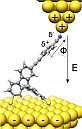 Sketch of Spiromolecule with STM tip